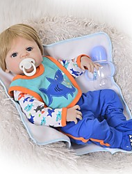 cheap -FeelWind 22 inch Reborn Doll Baby Girl Reborn Baby Doll Cute Kids / Teen Lovely Full Body Silicone with Clothes and Accessories for Girls' Birthday and Festival Gifts