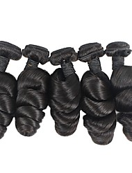 cheap -6 Bundles Brazilian Hair Loose Wave Remy Human Hair Natural Color Hair Weaves / Hair Bulk Bundle Hair One Pack Solution 8-28inch Natural Color Human Hair Weaves Newborn Waterfall Cute Human Hair