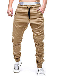 cheap -Men's Running Pants Track Pants Sports Pants Stirrup Drawstring Sports Winter Bottoms Fitness Breathable Quick Dry Plus Size Solid Colored Black Light Grey Khaki / Micro-elastic
