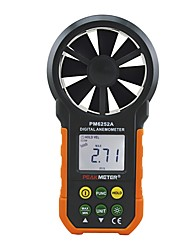 cheap -PEAKMETER PM6252A USB Digital Anemometer Temperature Humidity Wind Speed Air Volume Measuring Meter With LCD Backlight