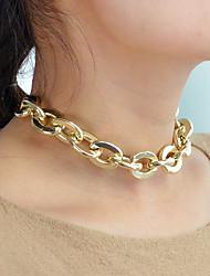 Недорогие -Жен. Ожерелья-цепочки пестрый платок, шарф Мода Modern Хром Золотой 32 cm Ожерелье Бижутерия 1шт Назначение Повседневные