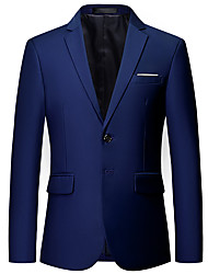 cheap -Men's Jacket Party Active Regular Solid Colored Wine / White / Black XS / US32 / UK32 / EU40 / S / US34 / UK34 / EU42 / M / US36 / UK36 / EU44