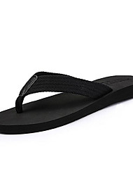 cheap -Men's Comfort Shoes Canvas Summer Slippers & Flip-Flops Black / Brown / Gray
