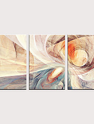 cheap -Print Rolled Canvas Prints - Abstract Modern Classic Three Panels Art Prints
