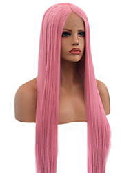 cheap -Pink Wig Technoblade Cosplay Synthetic Wig Natural Straight Layered Haircut Wig Very Long Pink+Red Synthetic Hair 22 inch Women's New Arrival Pink