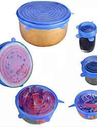 Недорогие -Многоразовые силиконовые эластичные крышки универсальная крышка силиконовая пищевая упаковка чаша горшок крышка силиконовая крышка кастрюля приготовления пищи кухонные пробки