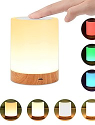 cheap -1pc USB 5V Night Light Touch Lamp for Bedrooms Living Room Portable Table Bedside Lamps with Rechargeable Internal Battery Dimmable 2800K-3100K Warm White Light Color Changing RGB