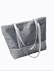cheap -Women's Zipper Canvas Tote Canvas Bag Black / Gray