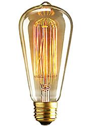 cheap -1pc 40 W E26 / E27 ST64 Warm White 2300 k Retro / Dimmable / Decorative Incandescent Vintage Edison Light Bulb 220-240 V