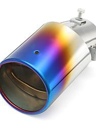 Недорогие -1 шт. 63 mm Советы по выхлопной трубе изогнутый Нержавеющая сталь Глушители выхлопа Назначение Honda Civic / Accord