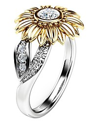 cheap -Women's Ring 1pc Gold Alloy Gift Daily Jewelry Sunflower