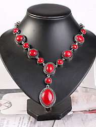 cheap -Women's Purple Blue Torque Beads European Stone Red 52 cm Necklace Jewelry 1pc For Daily Festival
