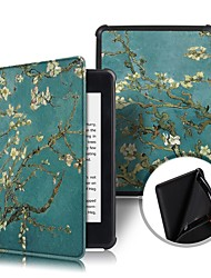 cheap -Phone Case For Amazon Full Body Case Kindle PaperWhite 4 2018 Shockproof Flip Origami Flower Hard PU Leather