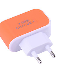 cheap -Portable Charger USB Charger EU Plug Normal 3 USB Ports 3.1 A DC 5V for Universal