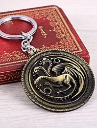 cheap -Game of Thrones Keychain Dainty Halloween Alloy Holiday Jewelry For Masquerade Party / Cocktail Halloween Carnival Men's Women's Costume Jewelry Fashion Jewelry / 1 Keychain