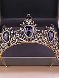 cheap -Women's Hair Jewelry For Wedding Wedding Retro Crystal Alloy Purple 1pc