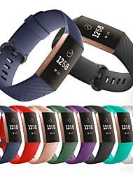 abordables -Bracelet de Montre  pour Fitbit Charge 3 Fitbit Bracelet Sport Silikon Sangle de Poignet