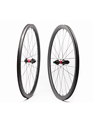 cheap -FARSPORTS 700CC Wheelsets Cycling 26 mm Road Bike Carbon Fiber Clincher / Tubeless Compatible 24/24 Spokes 35 mm