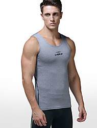 cheap -Men's Yoga Top Fashion Fitness Gym Workout Top Sleeveless Activewear Breathable Quick Dry Sweat-wicking Stretchy