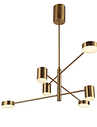 cheap -6-Light 103 cm Mini Style Chandelier Metal Mini Electroplated / Painted Finishes Artistic / Traditional / Classic 110-120V / 220-240V