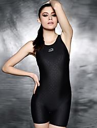 cheap -PHINIKISS Women's One Piece Swimsuit Padded Bodysuit Swimwear Black Lightweight Moisture Wearable Swimming Summer