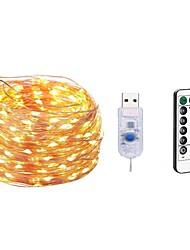 cheap -5m Light Sets 50 LEDs SMD 0603 1 13Keys Remote Controller 1 set Warm White White Multi Color Waterproof USB Decorative 5 V USB Powered