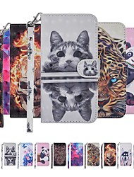 cheap -Case For Samsung Galaxy Note 9 Wallet / Card Holder / with Stand Full Body Cases Cat / Dog / Butterfly Hard PU Leather