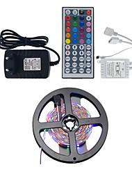 cheap -5m Light Sets LED Light Strips RGB Tiktok Lights 300 LEDs 2835 SMD 8mm 1 44Keys Remote Controller 1 x 2A power adapter RGB+White Waterproof Party Decorative 12 V 1 set