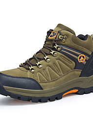 cheap -Men's Sneakers Hiking Shoes Hiking Boots Waterproof Breathable Comfortable High-Top Hiking Climbing Walking Autumn / Fall Spring Black Brown Grey