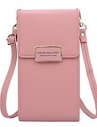 Недорогие -Жен. Кожа PU Мобильный телефон сумка Сплошной цвет Черный / Красный / Розовый / Наступила зима