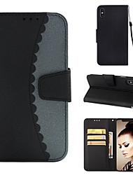 cheap -Case For Apple iPhone XS / iPhone XR / iPhone XS Max Wallet / Card Holder / with Stand Full Body Cases Tile Hard PU Leather