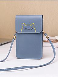 abordables -Femme Fermeture PU Mobile Bag Phone Noir / Violet / Rose Claire