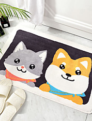 cheap -1pc Casual / Cartoon Bath Mats / Bath Rugs Other Leather Type Novelty / Animal Cute / Non-Slip / Thickening