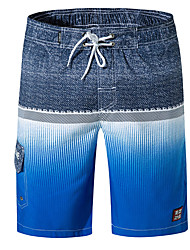 cheap -Men's Basic Slim Shorts Pants - Multi Color Blue Yellow Green M / L / XL
