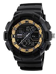 Недорогие -SKMEI Муж. электронные часы Цифровой силиконовый Черный 50 m Защита от влаги Секундомер Повседневные часы Аналого-цифровые На каждый день На открытом воздухе - Черный Черно-белый Розовое золото