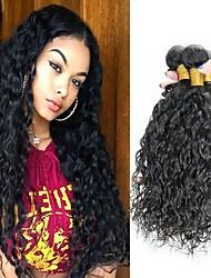 cheap -6 Bundles Brazilian Hair Water Wave Remy Human Hair Natural Color Hair Weaves / Hair Bulk Bundle Hair One Pack Solution 8-28inch Natural Color Human Hair Weaves Cute Fashionable Design Gift Human