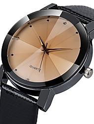 cheap -Men's Dress Watch Quartz Leather Black 30 m Water Resistant / Waterproof Casual Watch Imitation Diamond Analog Casual Fashion - Black White