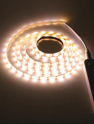 cheap -2m Light Sets 120 LEDs SMD2835 Warm White Waterproof / Body Sensor 5 V / Batteries Powered 1pc