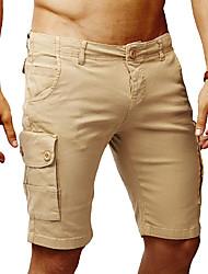 cheap -Bermuda Men's Basic EU / US Size Shorts Pants - Solid Colored Beige Navy Blue Army Green L XL XXL