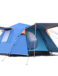 cheap -8 person Screen Tent Outdoor Windproof Rain Waterproof Double Layered Poled Camping Tent 2000-3000 mm for Traveling Picnic Oxford Cloth 300*300*215 cm