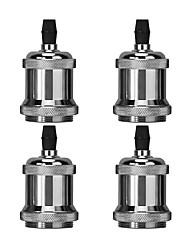 cheap -4pcs E26 / E27 100-240 V DIY Bulb Accessory Aluminum Light Bulb Socket