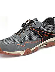 cheap -Men's Comfort Shoes Suede Spring Casual Athletic Shoes Hiking Shoes Breathable Blue / Gray / Khaki