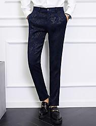 cheap -Men's Basic Chinos Pants - Print / Geometric Pattern Print Black Blue 30 31 32