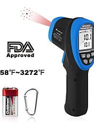 Недорогие -Holdpeak 1800 цифровой лазерный пирометр инфракрасный термометр высокотемпературный пистолет -583272контактный ик-термометр с ds501Эмиссионная способность макс / мин с подсветкой для литья в печи
