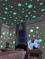 cheap -Interlocking Blocks Glow Door Sticker Star Galaxy Starry Sky Scenery 100 pcs Toy Gift