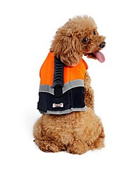 cheap -Dogs Cats Life Vest Dog Clothes Orange Green Costume Pug Bichon Frise Schnauzer Terylene Nylon PVA Solid Colored Unique Design High Quality S M L XL