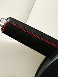 abordables -universellement noir voiture rouge changement de vitesse frein à main frein à main couverture grille Leatherwear couverture