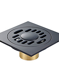 cheap -Drain Cool Antique / Country Brass 1pc - Hotel bath Floor Mounted