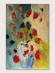 cheap -IARTS®Hand Painted FLOWER Oil Painting with Stretched Frame For Home Decoration