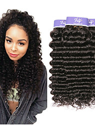cheap -4 Bundles Malaysian Hair Deep Wave 100% Remy Hair Weave Bundles Natural Color Hair Weaves / Hair Bulk Bundle Hair Human Hair Extensions 8-28 inch Natural Human Hair Weaves Odor Free Fashionable